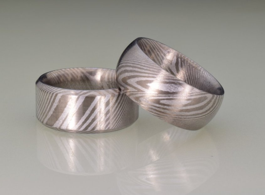 damascus wedding bands